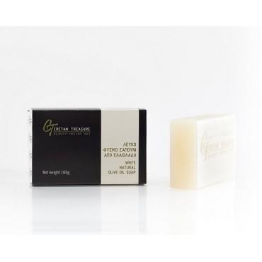 White natural olive oil soap -100gr