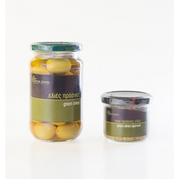 Green Olives - Glass jar - 215gr