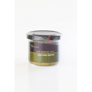 Green Olives Tapenade - Glass jar - 100 gr