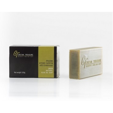 Green natural olive oil soap - 100gr