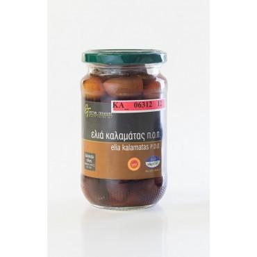 PDO KALAMATA OLIVES - Glass jar - 215gr